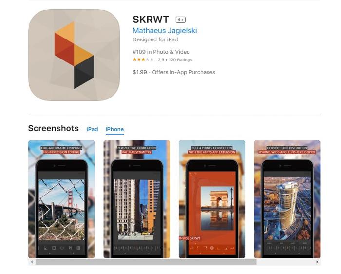 uma captura de tela de skrwt da loja de aplicativos iOS