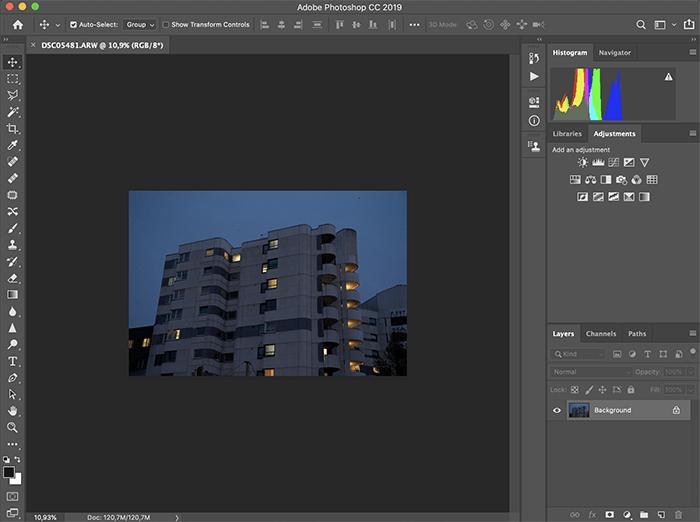 a screenshot of adobe photoshop photo editing software interface
