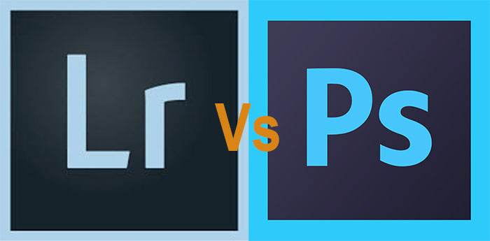 a graphic with the adobe lightroom and photoshop logos