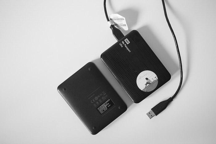 Two external hard drives