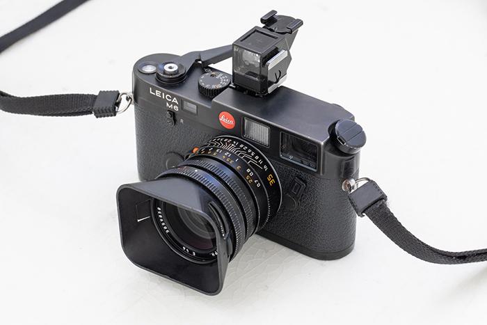 Leica M6 with waist-level viewfinder