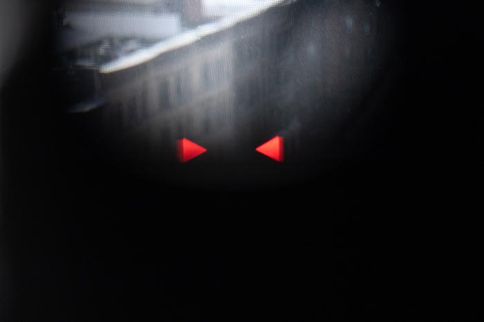 Medidor de luz no rangefinder Leica M6.