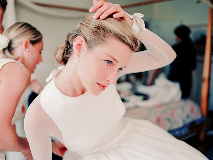 A photograph of a bride taken with a Leica M6 by Terry Gruber