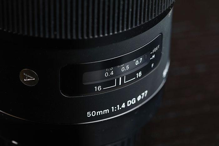 Imagem de lente artística Sigma 50mm f 1.4 dg hsm