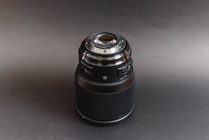 Fotografia de uma lente Sigma 85mm