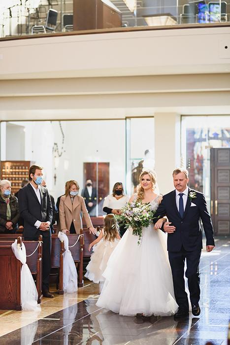 Fotografia de uma cerimônia de casamento tirada com a lente Art Sigma 85 mm