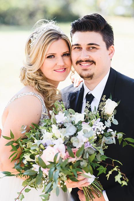 Retrato de casamento tirado com Sigma 85mm f / 1.4 Art