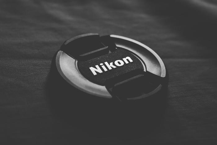 Close up of a Nikon lens cap