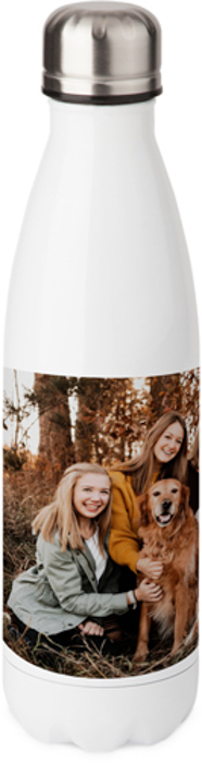 Personalised photo gift water bottle