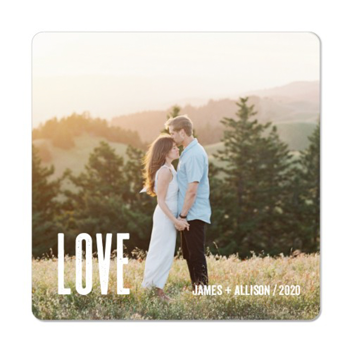 a personalised photo magnet for photo gift ideas