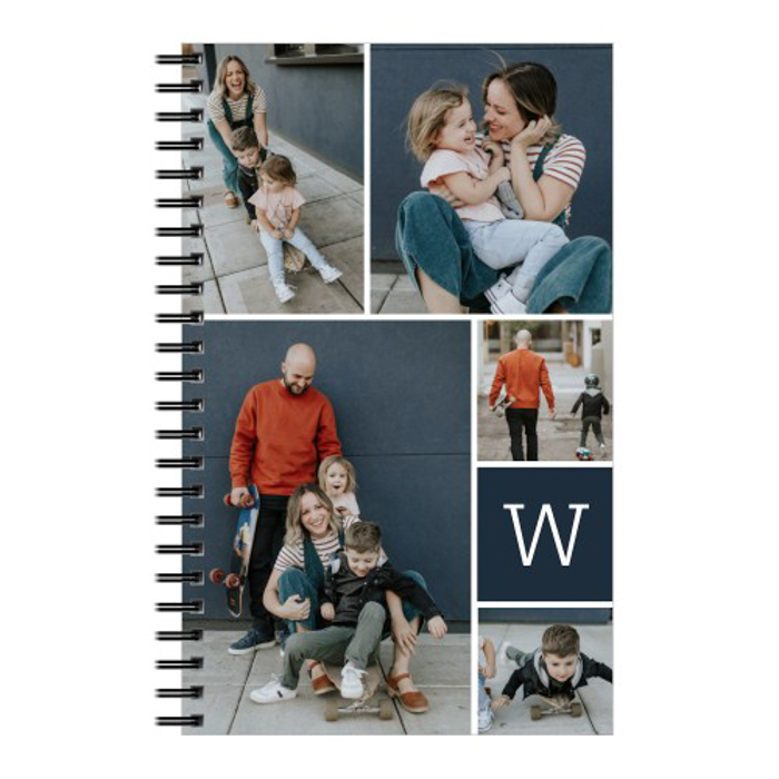 a customized notebook for photo gift ideas