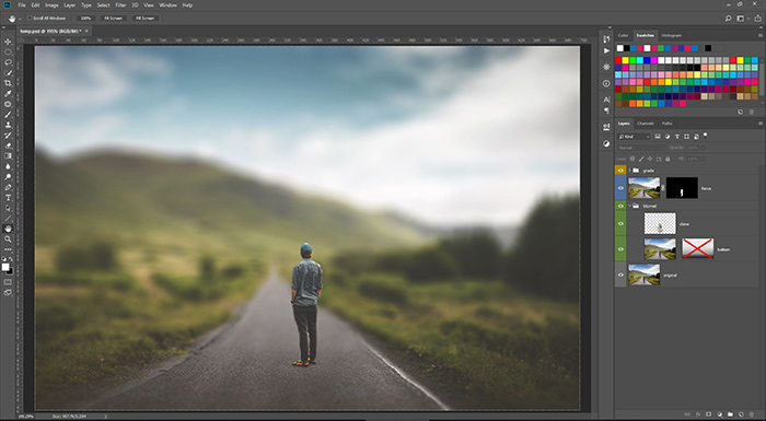 Editing background in Photoshop