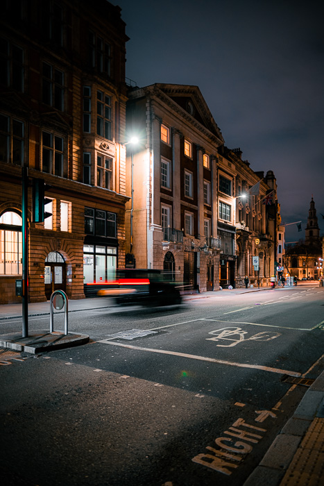 A low light image shot at night with the Canon EOS R5