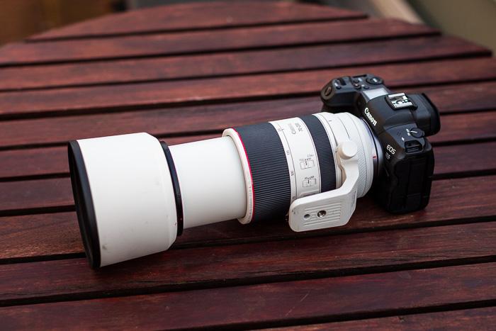 Imagem da Canon RF 70-200mm f / 2.8L IS USM em uma Canon EOS R5