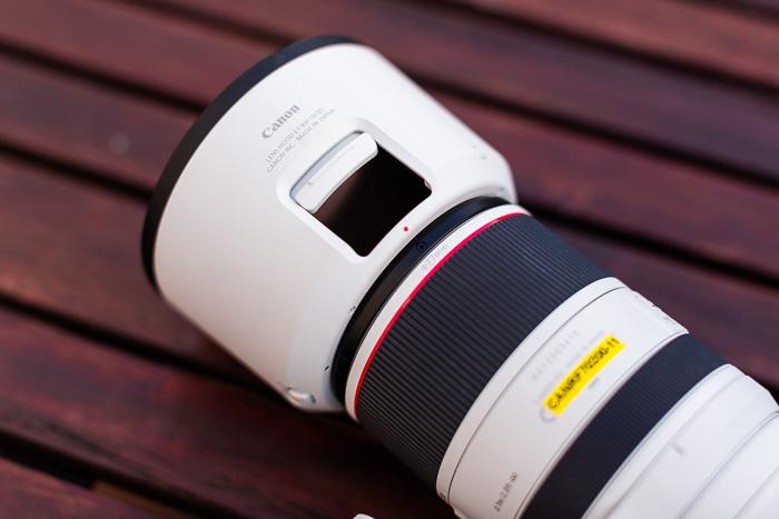Imagem de close-up da lente RF 70-200 mm f / 2.8L IS USM