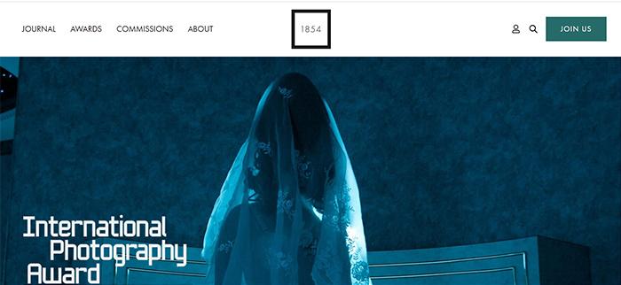 Screenshot from the BJP International Photography Award website