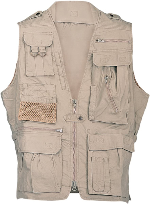Humvee Cotton Safari Vest with Extra Pockets