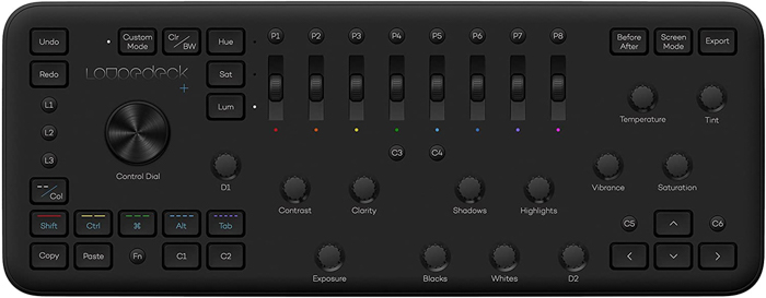 Photo of a Loupedeck+ editing console photo gadget.
