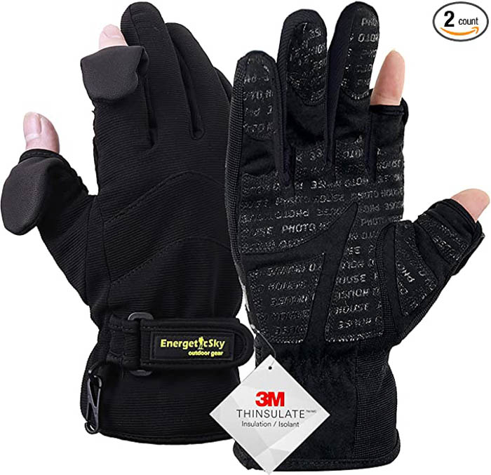 Image of the EnergeticSky Waterproof Winter Gloves photography gloves