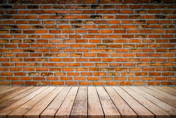 Image of a brick style DIY photo backdrop