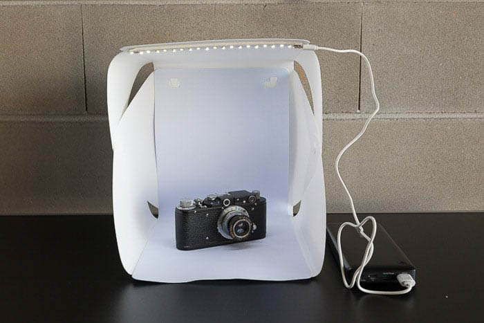 Image of a DIY lightbox