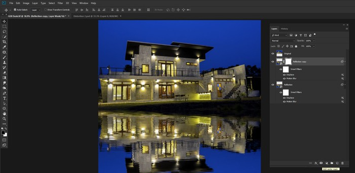 Image of Adobe Photoshop and Photoshop layers for real-estate phototgraphy