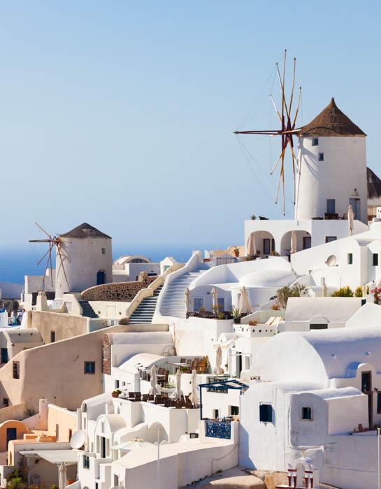 Imagem fotográfica de viagem de uma cidade grega