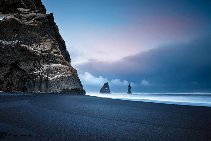 Beautiful landscape image of a seaside and rocks.