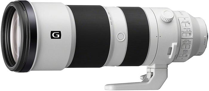 Imagem de lente zoom supertelefoto Sony FE 200-600mm f / 5.6-6.3 G OSS