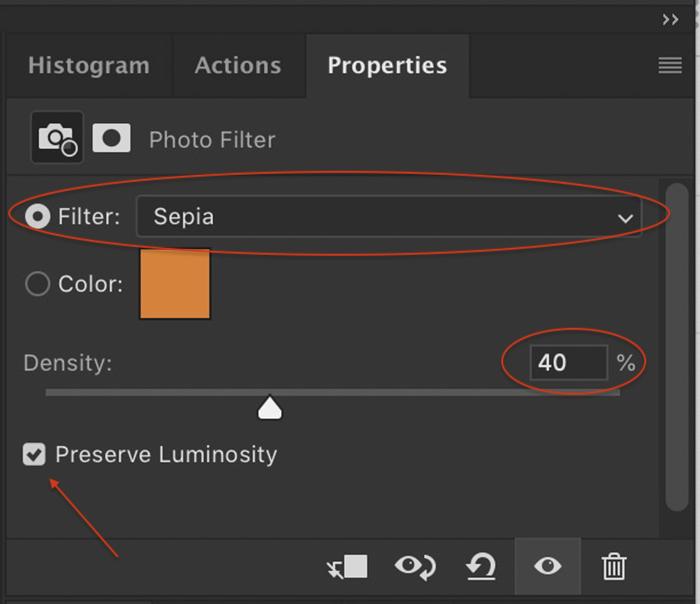 Captura de tela do menu Filtro de fotos no Photoshop