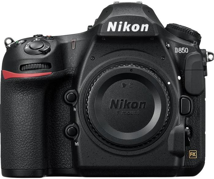 Uma imagem de uma câmera Nikon D850