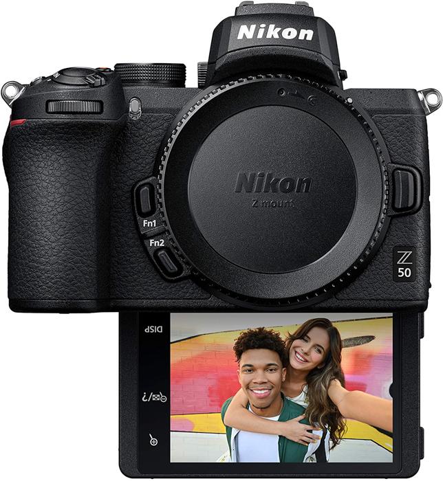 Uma imagem da câmera sem espelho Nikon Z50