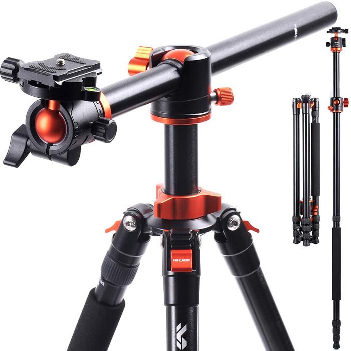 Uma imagem do tripé de câmera K&F Concept SA254T1 para fotografia de alimentos