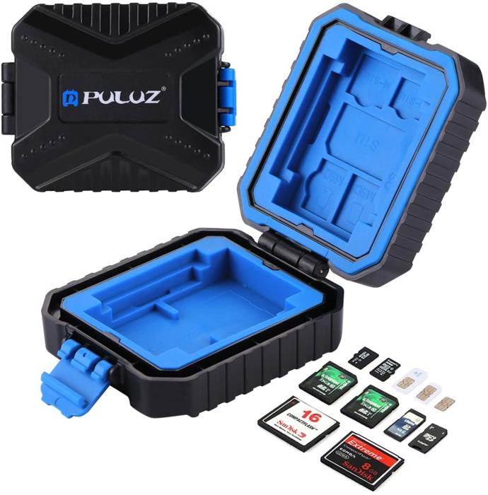 Imagem da caixa para cartão de memória à prova d'água Puluz
