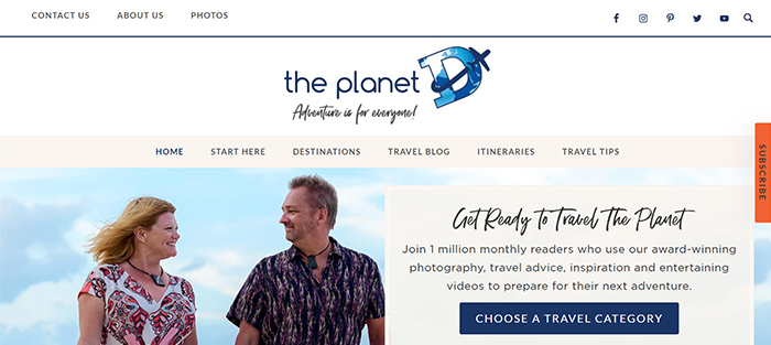 screenshot the planet d, best blogs for travel photographers