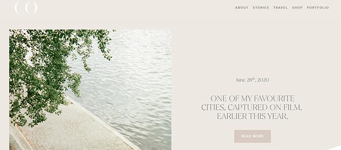 screenshot carin olsson travel photography blog