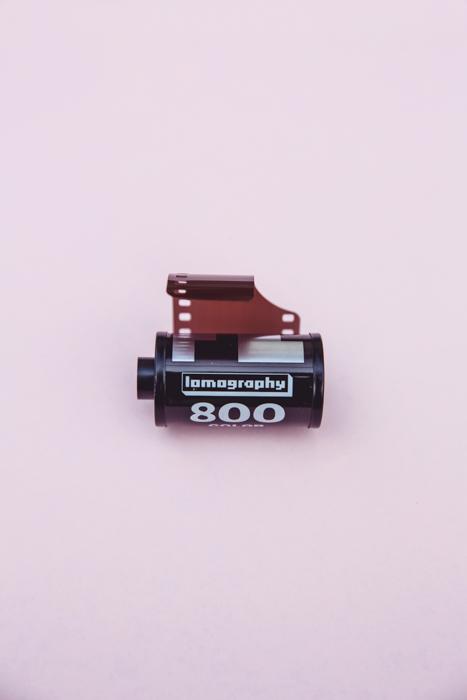 Um rolo de filme Lomography 35mm.