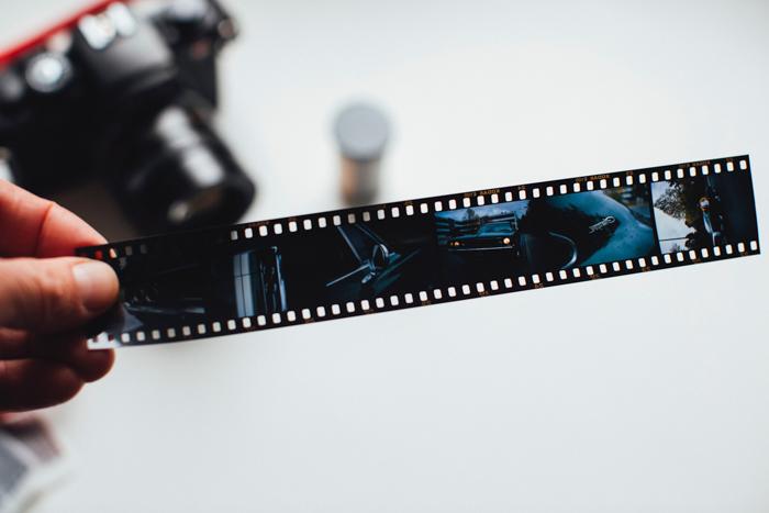 Uma imagem de um negativo de filme 35mm