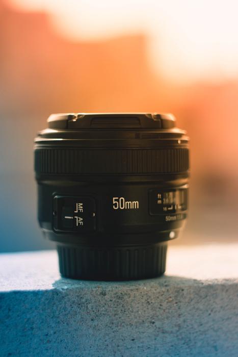 A Canon 50mm lens