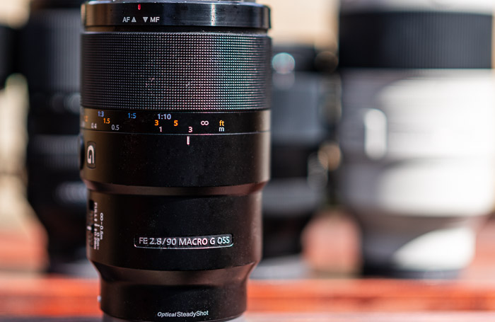Macro lens in front of other lenses
