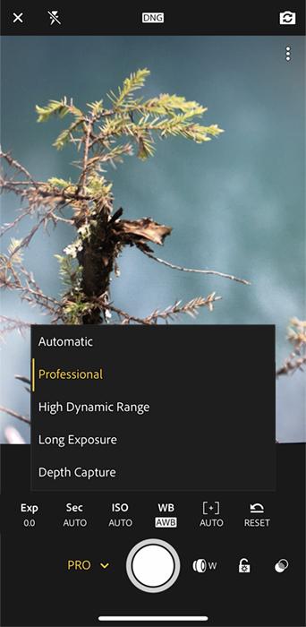 Lightroom app camera