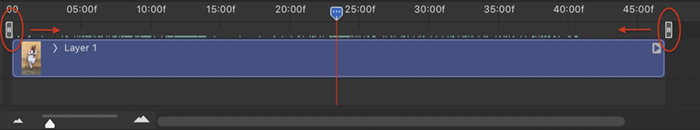 Screenshot Photoshop video timeline