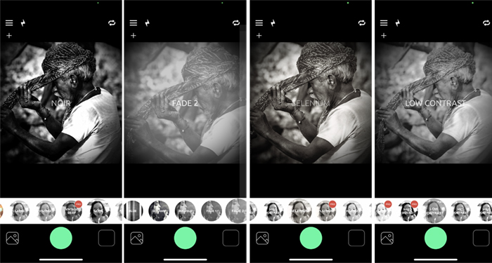 Screenshots BlackCam black and white app Indian wrapping turban