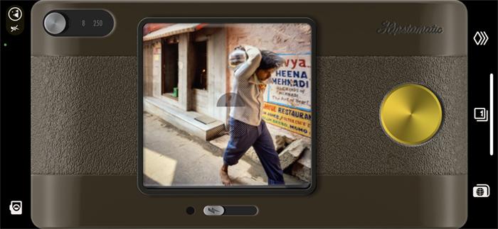 Screenshot Hipstamatic app retro camera Indian street scene