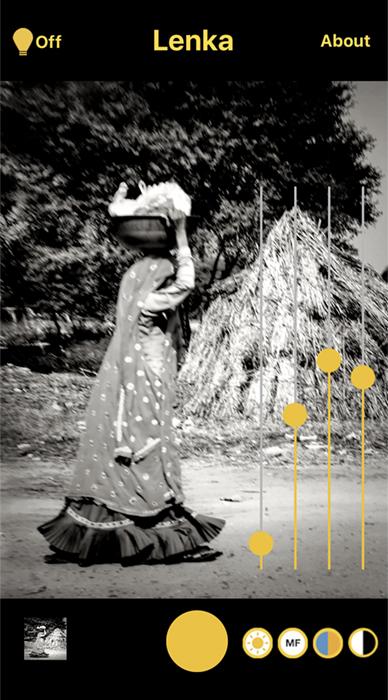 Screenshot Lenka app Indian woman carrying basket