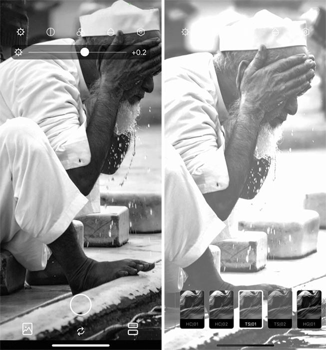 Screenshot Hypocam app Indian ritual bathing