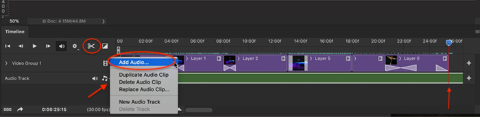 Photoshop screenshot audio